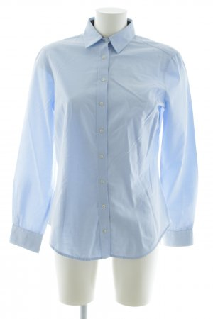Zara Basic Hemd-Bluse blau Business-Look