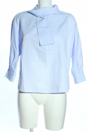 Zara Basic Hemd-Bluse blau Casual-Look