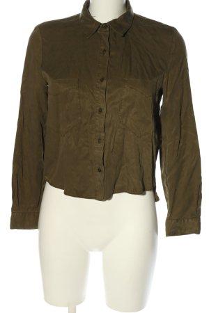 Zara Basic Hemd-Bluse braun Casual-Look