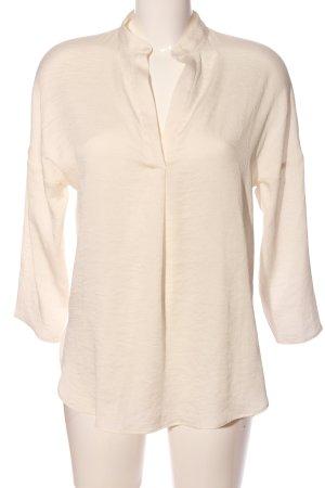 Zara Basic Hemd-Bluse creme Business-Look