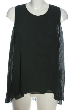 Zara Basic Hemd-Bluse schwarz Casual-Look