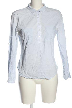 Zara Basic Hemd-Bluse weiß-blau Allover-Druck Business-Look