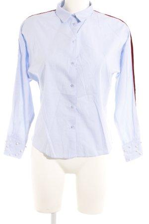 Zara Basic Hemd-Bluse hellblau Business-Look