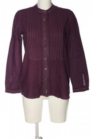Zara Basic Hemd-Bluse lila-weiß Streifenmuster Business-Look