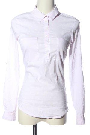 Zara Basic Hemd-Bluse pink-weiß Allover-Druck Business-Look