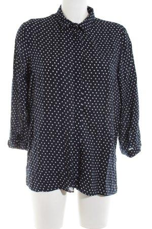 Zara Basic Hemd-Bluse schwarz-weiß Allover-Druck Casual-Look