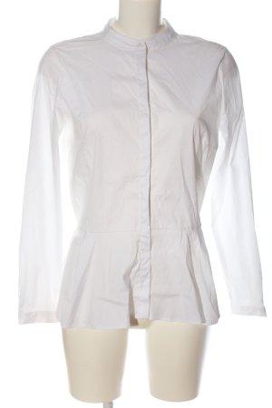 Zara Basic Hemd-Bluse weiß Casual-Look