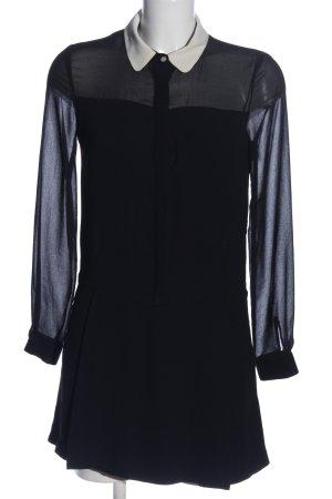 Zara Basic Hemdblusenkleid schwarz Casual-Look