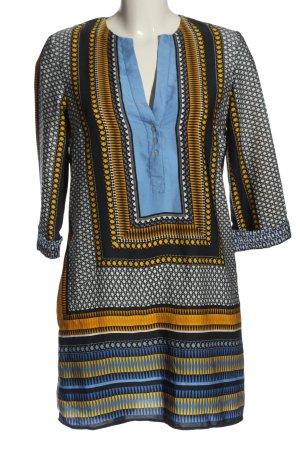 Zara Basic Hemdblusenkleid abstraktes Muster Casual-Look