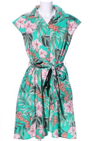 Zara Basic Vestido tipo blusón estampado repetido sobre toda la superficie