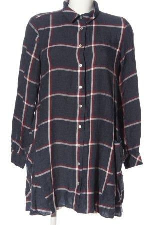 Zara Basic Robe chemise motif à carreaux style décontracté