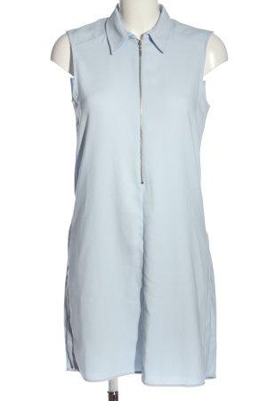Zara Basic Koszulowa sukienka niebieski W stylu biznesowym