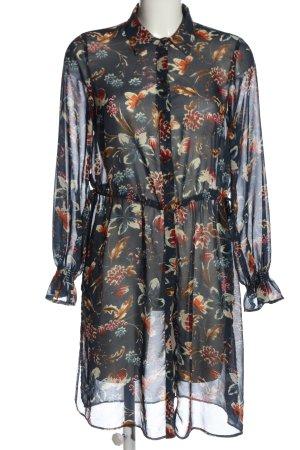 Zara Basic Hemdblusenkleid Allover-Druck Elegant
