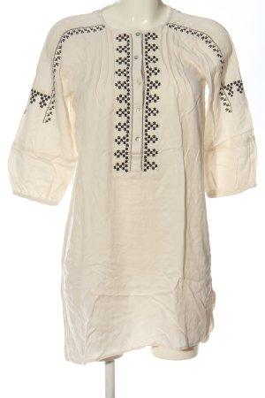 Zara Basic Koszulowa sukienka w kolorze białej wełny-czarny W stylu casual