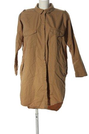 Zara Basic Hemdblusenkleid braun Casual-Look