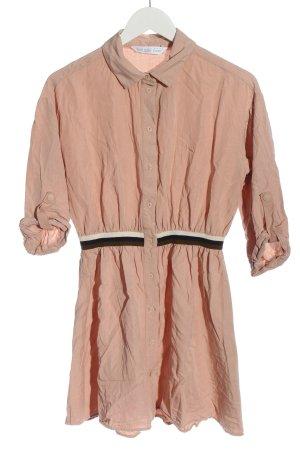 Zara Basic Hemdblusenkleid mehrfarbig Casual-Look
