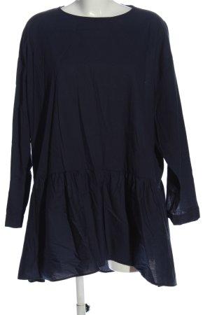 Zara Basic Hemdblusenkleid blau Casual-Look