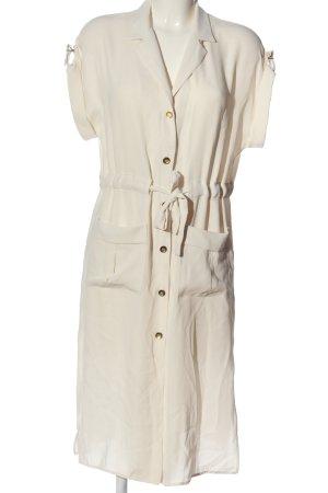 Zara Basic Hemdblusenkleid creme Casual-Look