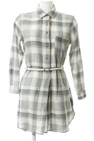 Zara Basic Shirtwaist dress check pattern casual look