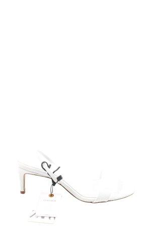 Zara Basic Sandalias de tacón alto blanco estilo extravagante