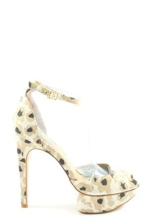 Zara Basic High Heel Sandaletten Leomuster Elegant