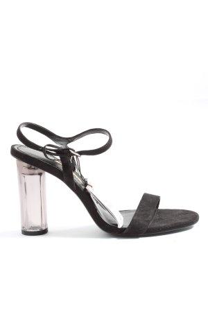 Zara Basic High Heel Sandaletten schwarz Casual-Look