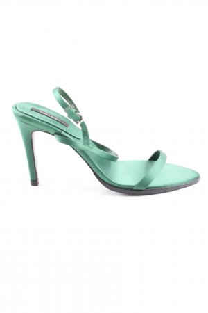 Zara Basic High Heel Sandaletten türkis Elegant