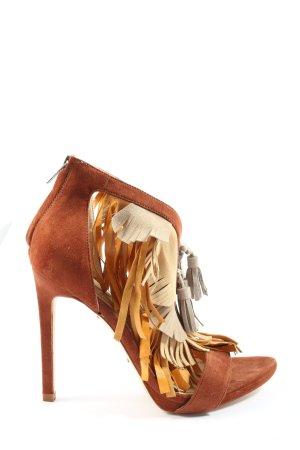 Zara Basic High Heel Sandaletten mehrfarbig extravaganter Stil