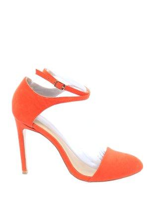 Zara Basic Sandales à talon haut rouge style décontracté