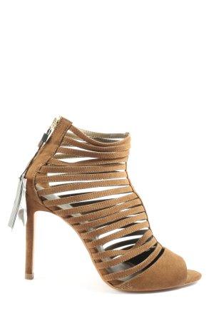 Zara Basic High Heel Sandaletten braun Casual-Look