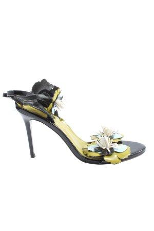Zara Basic High Heel Sandaletten mehrfarbig Casual-Look