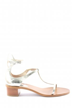 Zara Basic High Heel Sandaletten goldfarben Elegant