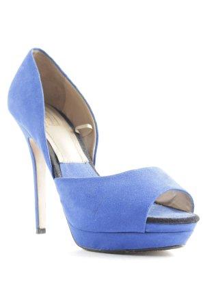 Zara Basic High Heel Sandaletten blau Party-Look