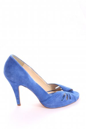 Zara Basic High Heel Sandaletten blau Casual-Look