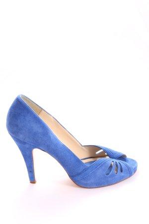 Zara Basic Sandalias de tacón alto azul look casual