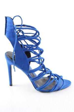 Zara Basic High Heel Sandaletten blau Elegant