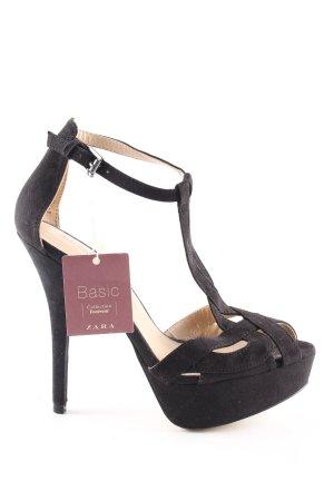 Zara Basic High Heel Sandaletten schwarz Elegant