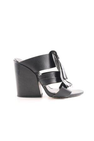 Zara Basic High Heel Sandaletten schwarz schlichter Stil