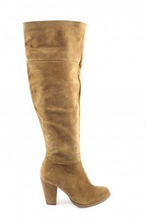 Zara Basic High Heel Stiefel braun Casual-Look