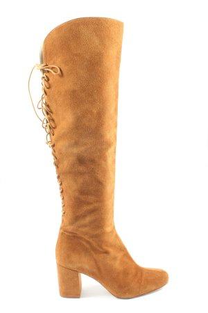 Zara Basic High Heel Stiefel hellorange Casual-Look