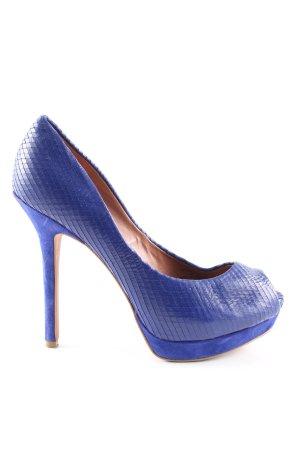 Zara Basic High Heels blau Animalmuster Elegant