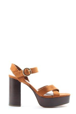 Zara Basic High Heels braun Elegant