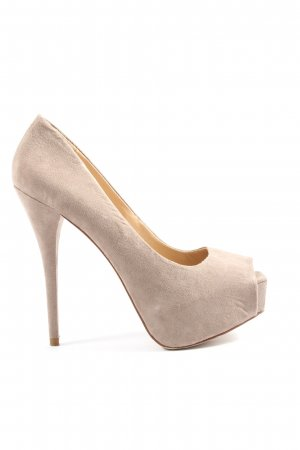Zara Basic High Heels wollweiß Business-Look