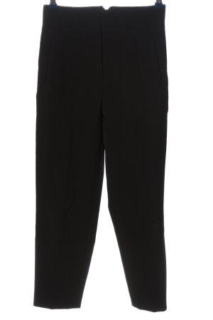 Zara Basic Pantalón de cintura alta negro look casual