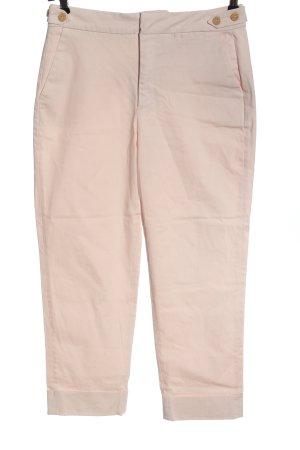 Zara Basic Pantalón de cintura alta crema look casual