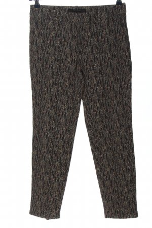Zara Basic High-Waist Hose abstraktes Muster Casual-Look