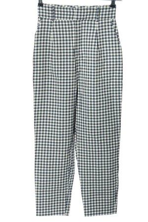 Zara Basic Pantalón de cintura alta estampado a cuadros look casual