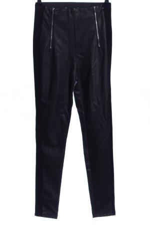 Zara Basic High-Waist Hose schwarz Casual-Look