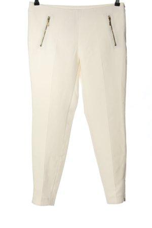 Zara Basic High Waist Trousers natural white business style