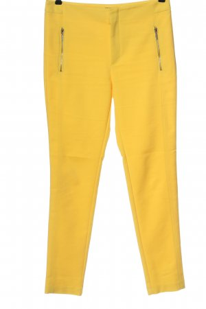 Zara Basic High-Waist Hose blassgelb Casual-Look